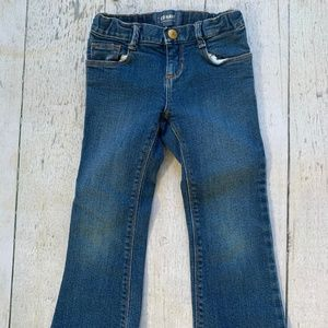 Boot cut denim jeans for toddler girl